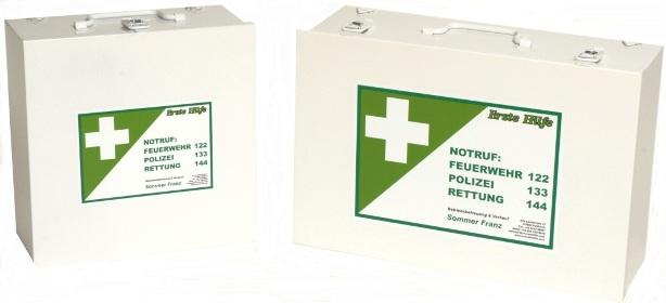 Erste Hilfe-Kasten Metall ÖNORM Z1020 Typ 1  Baustelle