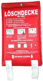 Feuerlöschdecke mit Tasche 100 x 100 cm