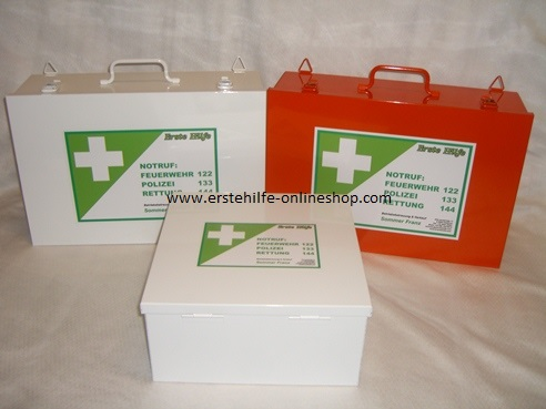 Erste Hilfe-Kasten Metall ÖNORM Z1020 Typ 2 20 Jahre Haltbarkeit