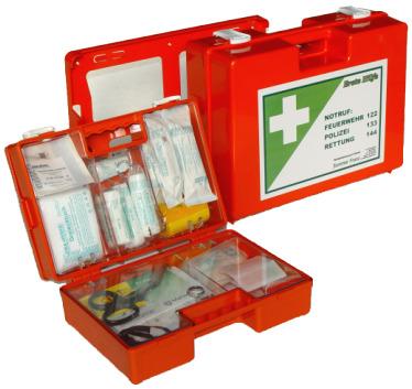 Erste Hilfe-Koffer Kunststoff ÖNORM Z1020 Typ 1 20 Jahre Haltbarkeit
