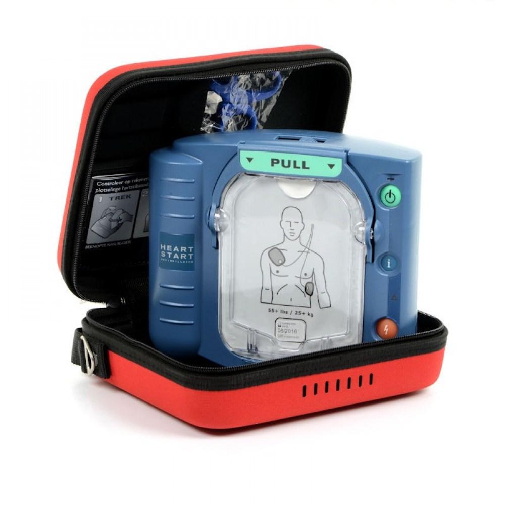 Philips HeartStart HS1 Defibrillator inkl. Zubehör und Tasche